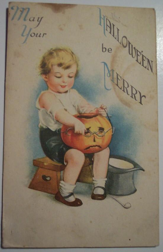 Postal Halloween vintage 064