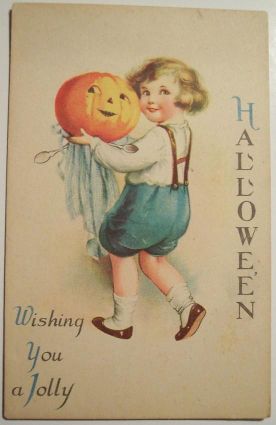 Postal Halloween vintage 065
