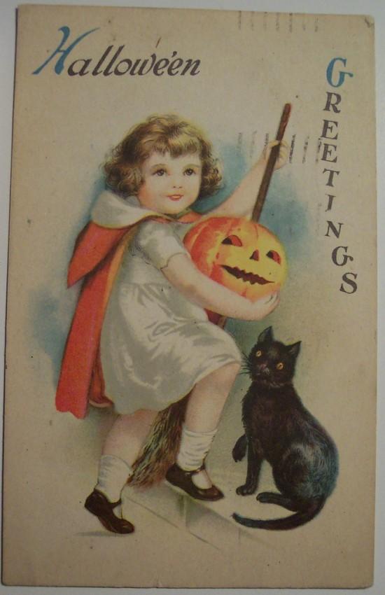 Postal Halloween vintage 066