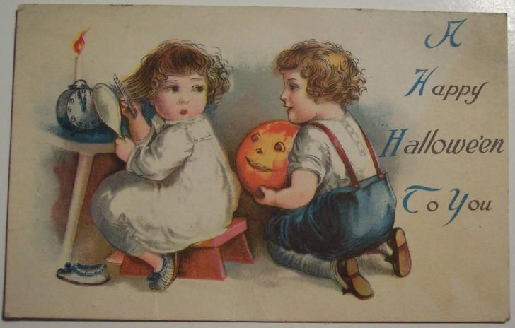 Postal Halloween vintage 067