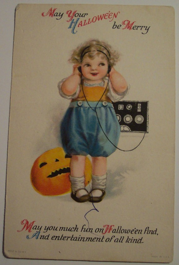 Postal Halloween vintage 068