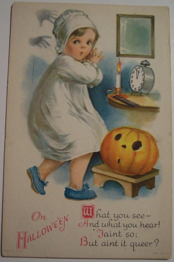 Postal Halloween vintage 069