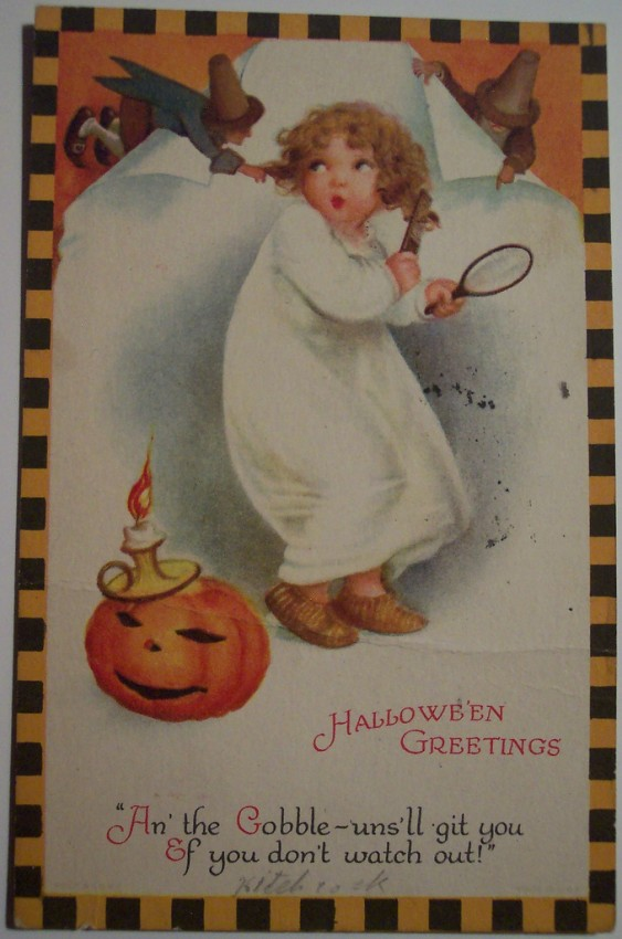 Postal Halloween vintage 073