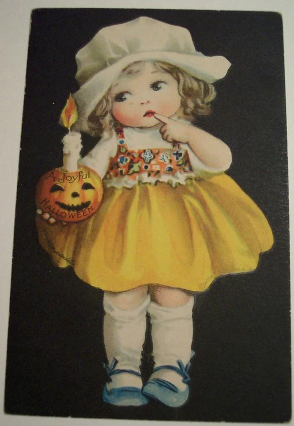 Postal Halloween vintage 075
