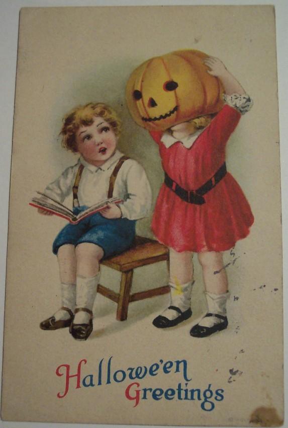 Postal Halloween vintage 076