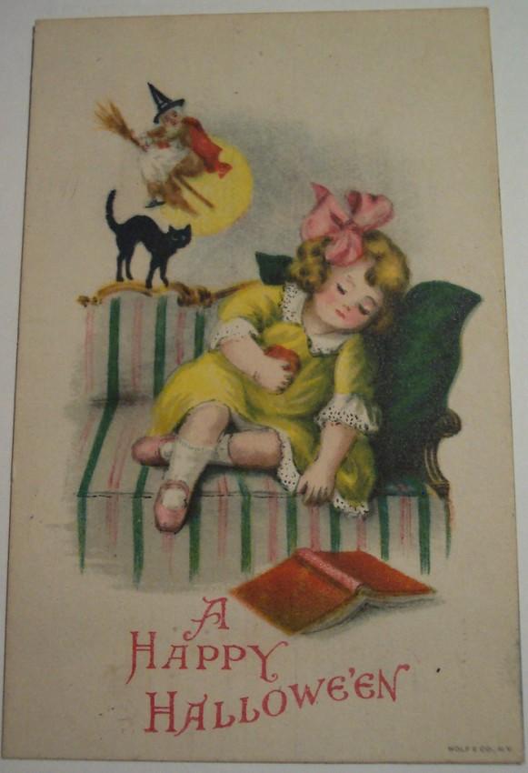 Postal Halloween vintage 077