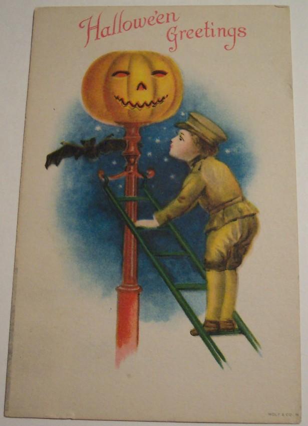 Postal Halloween vintage 078