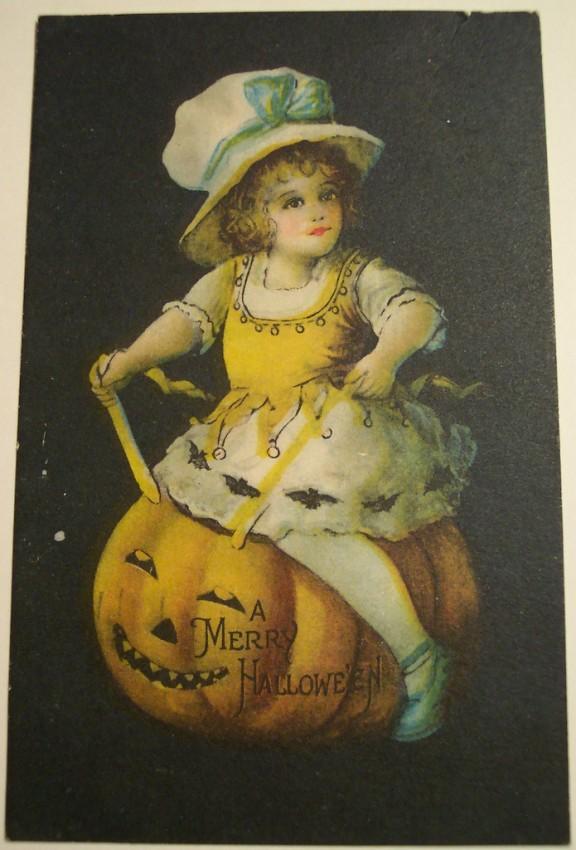 Postal Halloween vintage 079