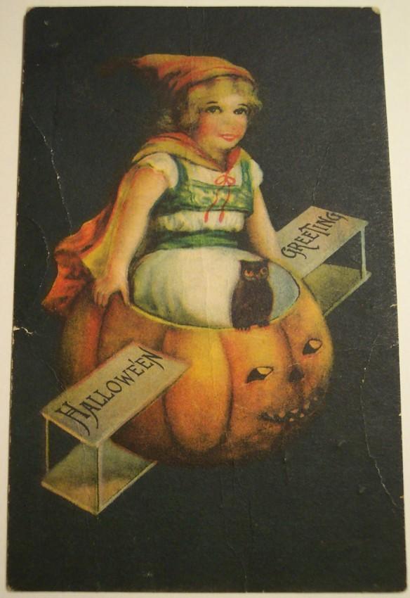 Postal Halloween vintage 080