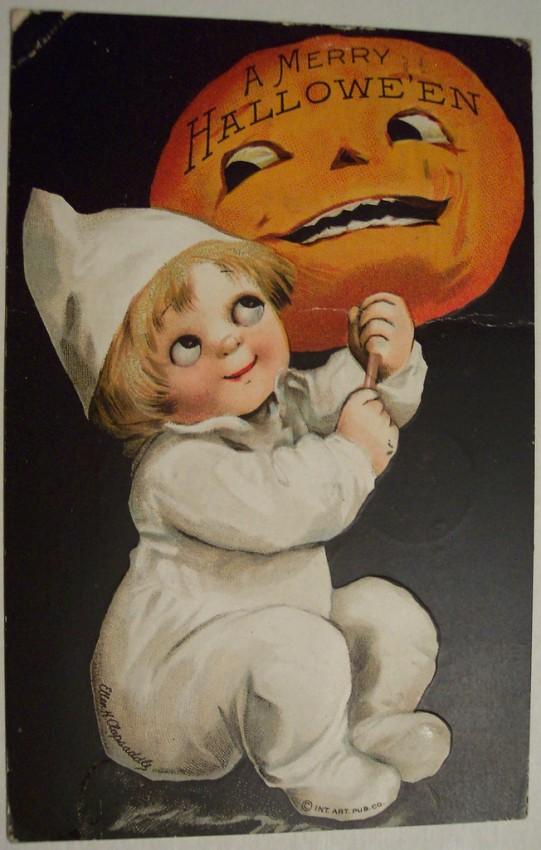 Postal Halloween vintage 083