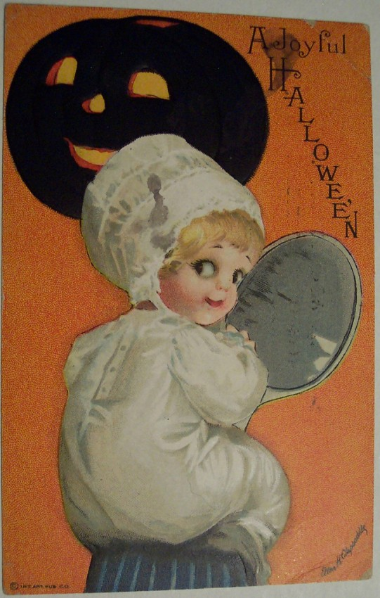 Postal Halloween vintage 084