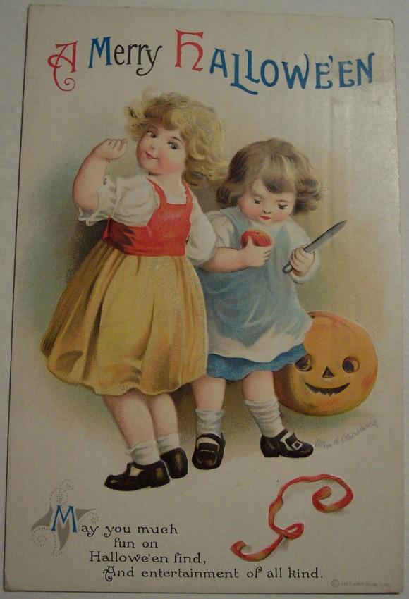 Postal Halloween vintage 086