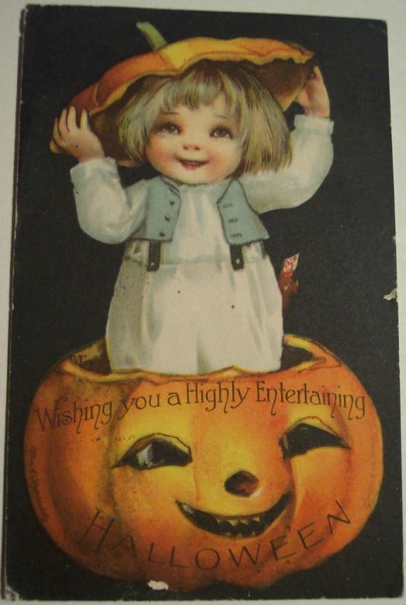 Postal Halloween vintage 087