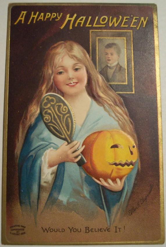 Postal Halloween vintage 088