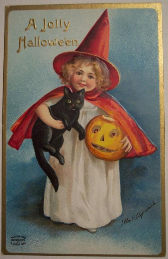 Postal Halloween vintage 089