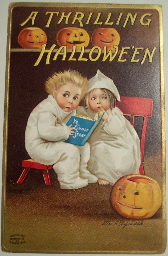 Postal Halloween vintage 090