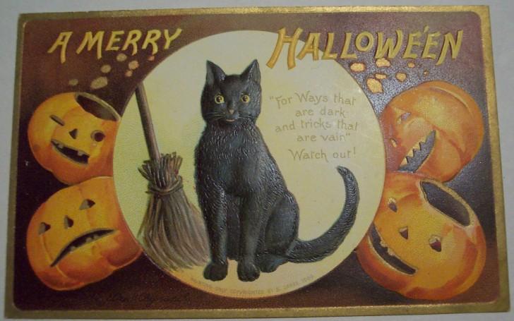 Postal Halloween vintage 091