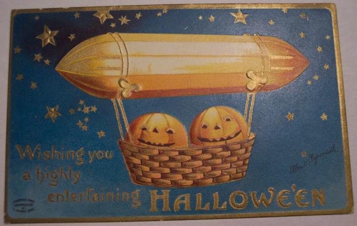 Postal Halloween vintage 092