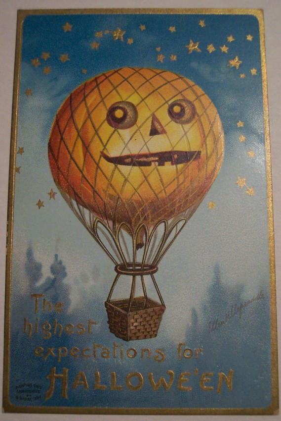 Postal Halloween vintage 093