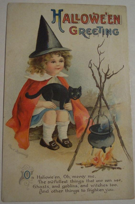 Postal Halloween vintage 094