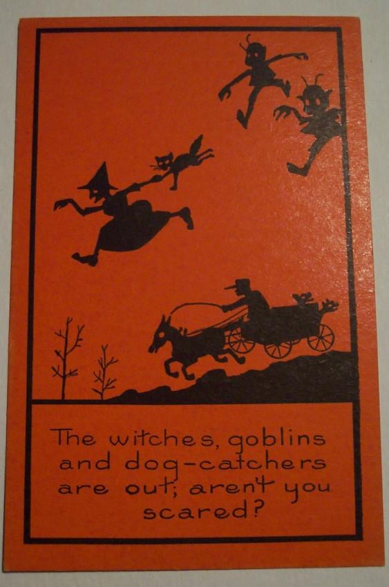 Postal Halloween vintage 095