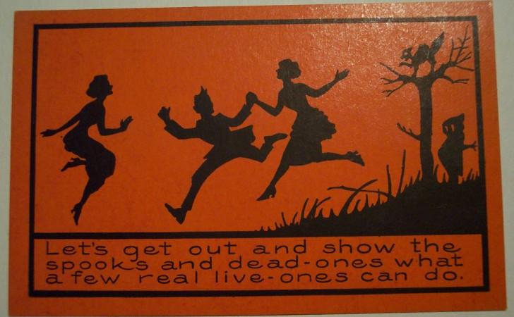Postal Halloween vintage 096