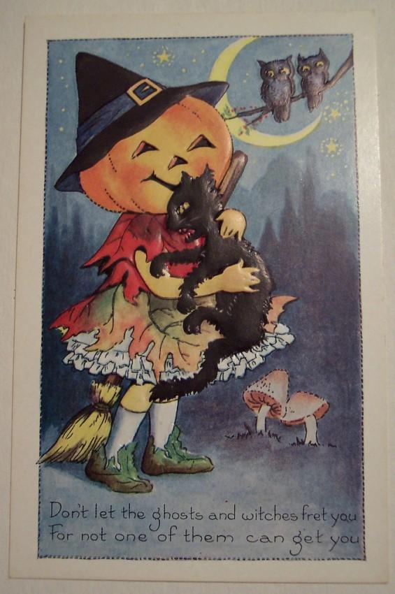 Postal Halloween vintage 097