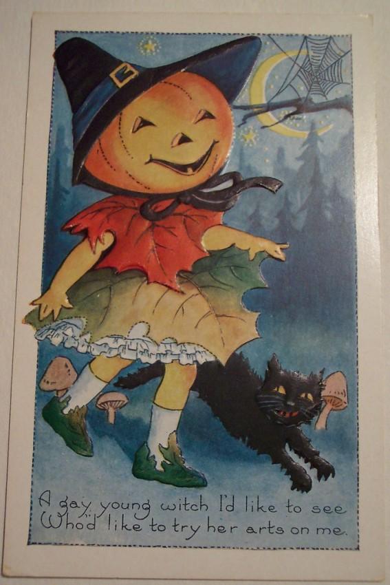 Postal Halloween vintage 099