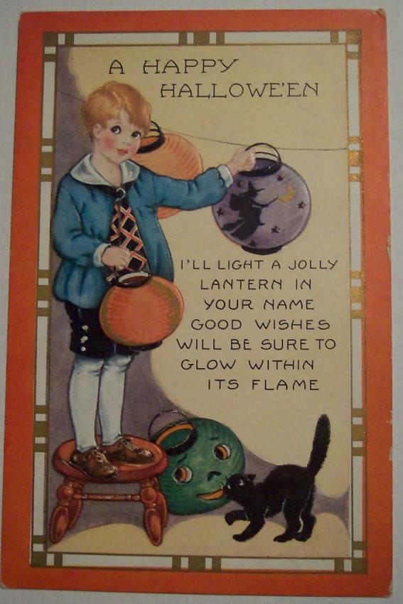 Postal Halloween vintage 100