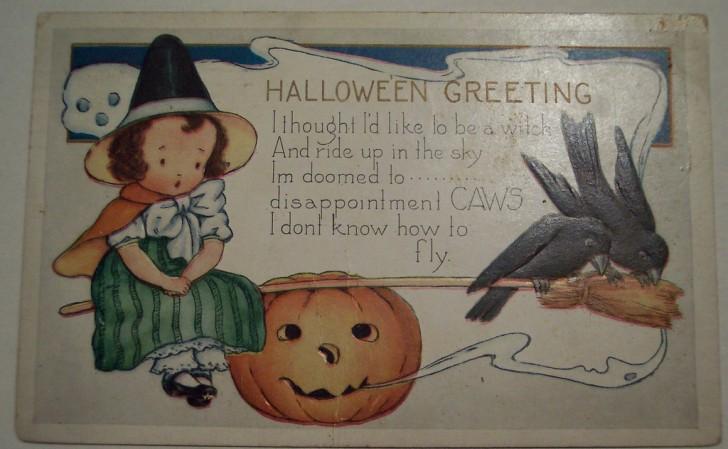 Postal Halloween vintage 102