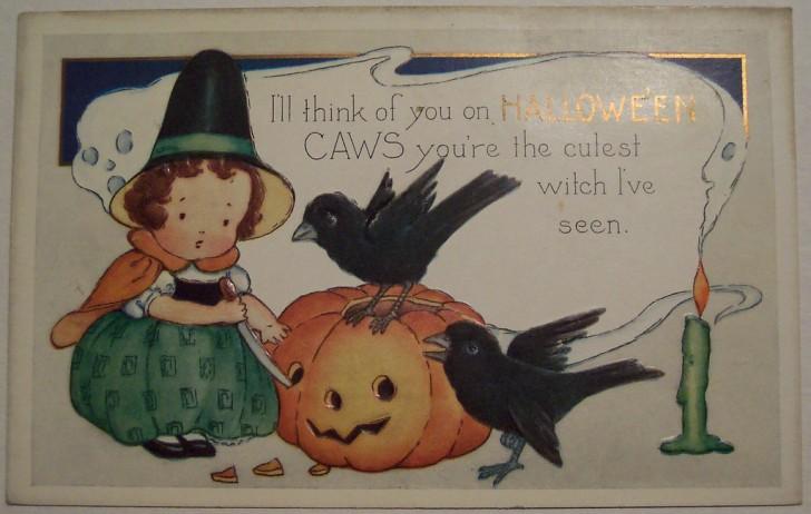 Postal Halloween vintage 103