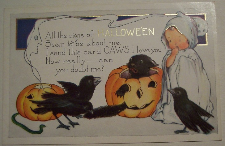 Postal Halloween vintage 104