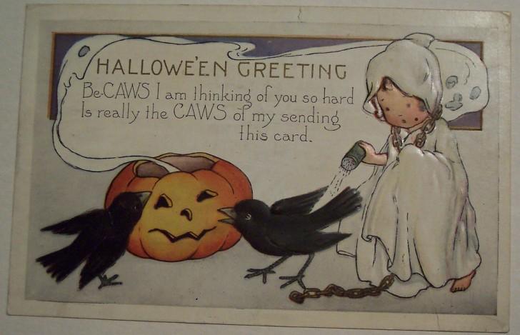 Postal Halloween vintage 105