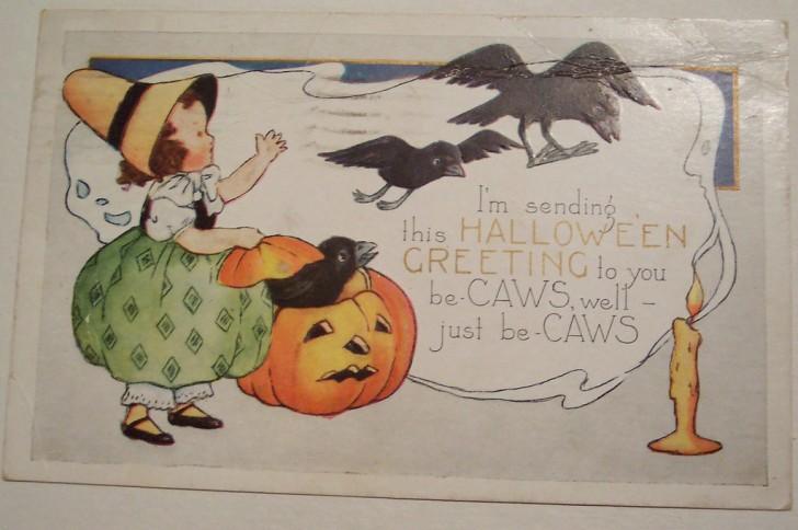 Postal Halloween vintage 106