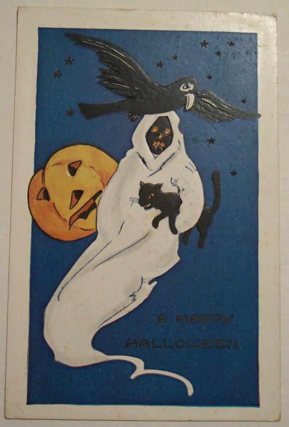 Postal Halloween vintage 107