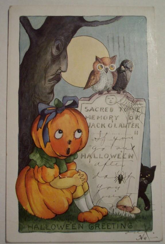 Postal Halloween vintage 112