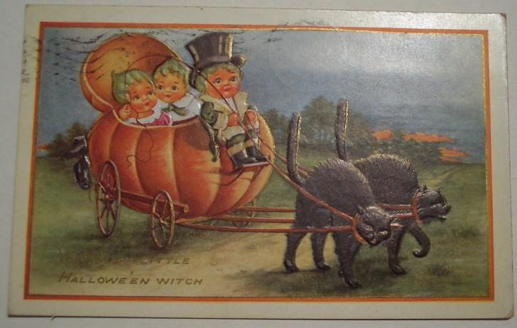 Postal Halloween vintage 115