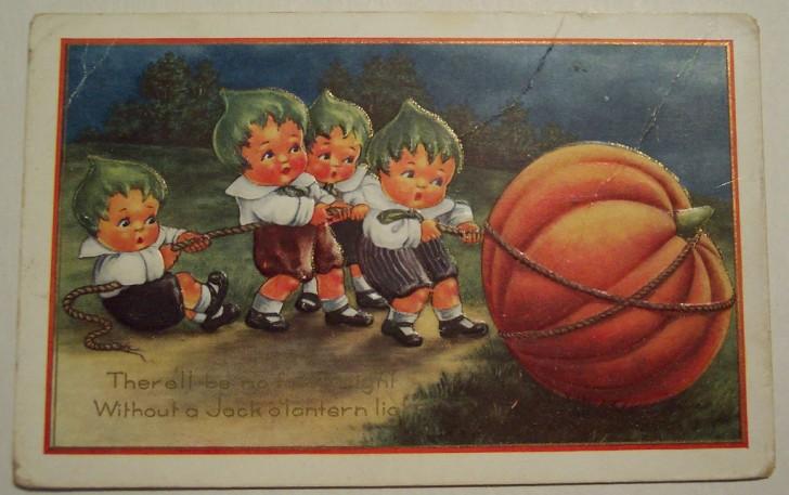 Postal Halloween vintage 116
