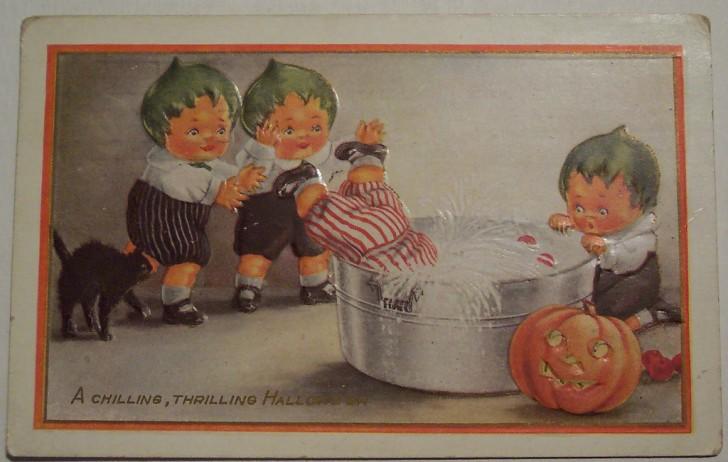 Postal Halloween vintage 117