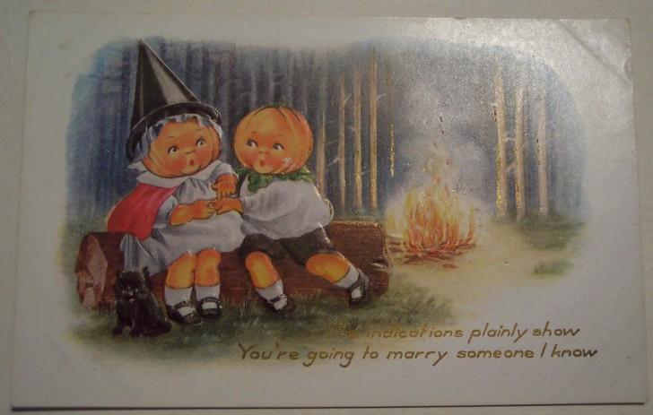 Postal Halloween vintage 118