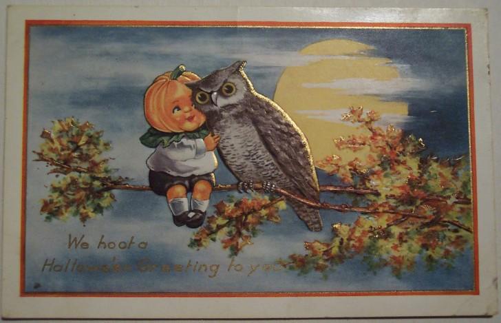 Postal Halloween vintage 119