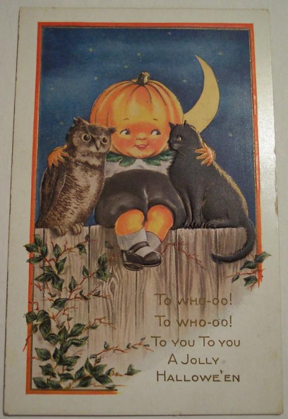 Postal Halloween vintage 120
