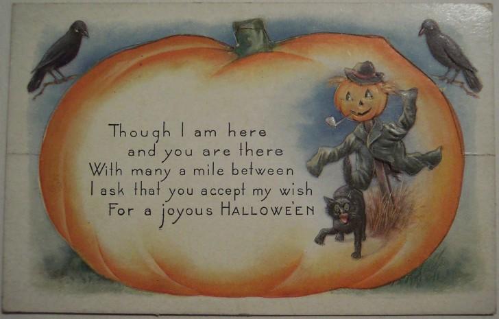 Postal Halloween vintage 121
