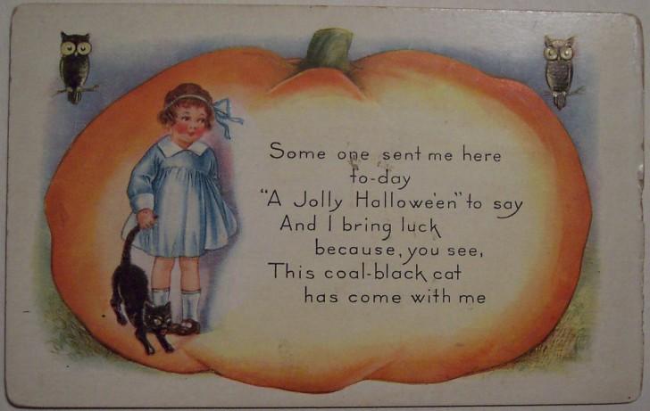 Postal Halloween vintage 122