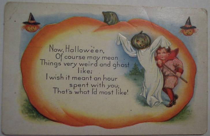 Postal Halloween vintage 123