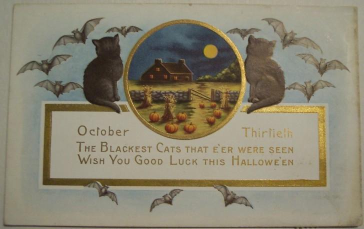 Postal Halloween vintage 124