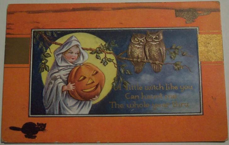 Postal Halloween vintage 125