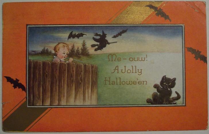 Postal Halloween vintage 126