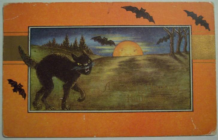 Postal Halloween vintage 127