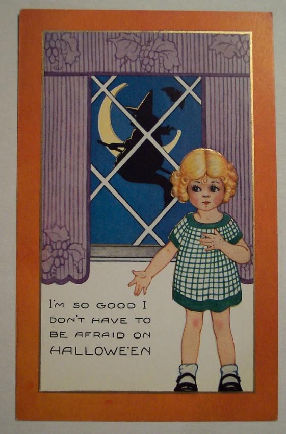Postal Halloween vintage 128